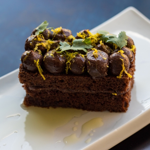 Olive Oil Chocolate Cake-3